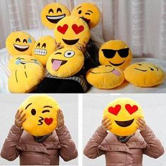 Shop Emoji pillow for your home & make your Sofas & Chairs will now be able to express their emotions. #EmojiPlush http://emojicushions.mysimplestore.com/t/cushions