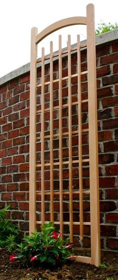 Wood Trellis Design Plans Free Download | Wood trellis, Woods and ...