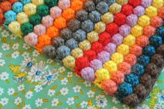 bobble blanket crochet pattern - I would do this with a solid color. Most likely purple. Fall project to begin soon!!