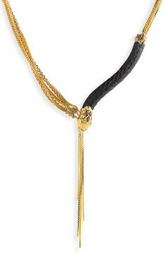 Love! This gold bejeweled snake necklace is a gorgeous statement piece for fall.