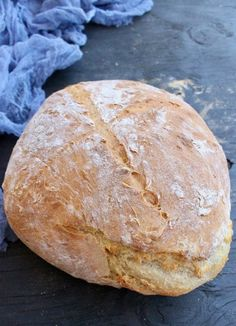 Homemade Rustic Crusty Bread Loaf Loaf Recipes, Vegan Recipes, Cooking Recipes, Italian Recipes, Vegan Foods, Vegan Meals, Quick Recipes, Bread Recipe Video, Recipe Videos
