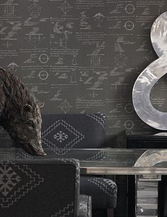 Pythagoras - Charcoal wallpaper from Andrew Martin