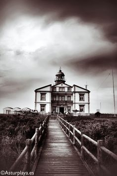 The Cape Peñas lighthouse in Asturias (Spain) is one impressive tower! Asturian, Asturias Spain, Lighthouse Pictures, Lighthouses, Libraries, Landscapes, Tower, Beach, Photography