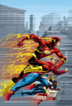 """This is our collection of Flash Family images. If you find an image in the database that is not shown here, please edit that image adding """"Flash Family"""" as an image subject. (usage help) See Also: The Flash Family gallery Comic Book Characters, Comic Character, Comic Books Art, Comic Art, Book Art, Flash Comics, Arte Dc Comics, Flash Wallpaper, Comic Manga"""