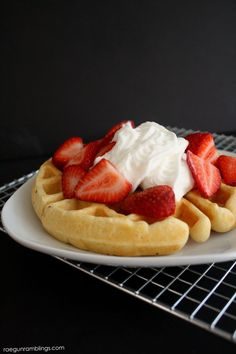 I love this waffle recipe! 5 minute buttermilk waffles great fast breakfast.