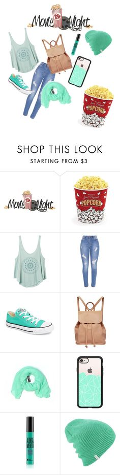 """Movie Night"" by kaykay42005 ❤ liked on Polyvore featuring West Bend, RVCA, Converse, Urban Originals, Pier 1 Imports and Casetify"
