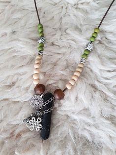 Halskette Haifischzahn Kette Textilband schwarz gold silber sweet deluxe Style