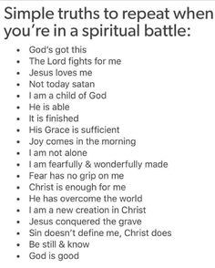 When you are in spiritual battle. List of thing know God do for me. should give me time to explore each bullet point and find supporting bible verses Prayer Scriptures, Bible Prayers, Faith Prayer, Prayer Quotes, Bible Verses Quotes, Spiritual Quotes, Faith Quotes, Spiritual Warfare Prayers, Strength Scriptures
