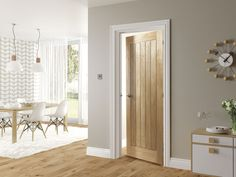 Choosing interior doors for the home can be a daunting process. Like many types of wood doors, oak interior doors have many options to choose from. 5 Panel Doors, Windows And Doors, Front Doors, Oak Fire Doors, Oak Interior Doors, Cottage Doors Interior, House Doors, White Doors, White Wooden Doors