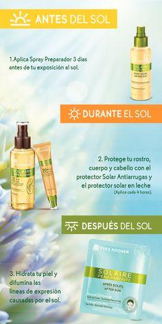 Si este fin de semana tienes planeado escaparte de la ciudad, recuerda proteger tu piel de los rayos UVA y UVB. Sigue estos pasos utilizando la línea de productos Solaire Peau Parfaite.