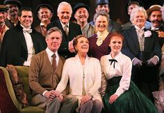 Julie Andrews with the cast of My Fair Lady in Sydney that she is directing