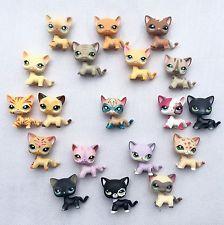 6pcs/Lot Littlest Pet Shop toy 1 super cat +5 random LPS cat Christmas gift