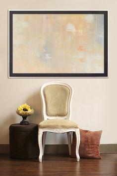 Untitled  Beige Abstraktes Gemälde auf von HighholderArtwork