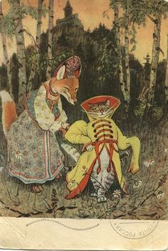omg, Jupan Cotoila!!!! the old cat who ran away to the woods, married the fox and scared the hell out of the boar, the wolf and the bear