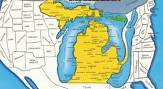 Tiny towns in MI where big things happened Map Of Michigan, Michigan Facts, Michigan Vacations, Michigan Travel, Detroit Michigan, Northern Michigan, Lake Michigan, Michigan Accent, Viajes