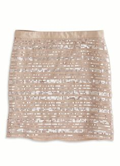 Chiffon and sequins come together in the perfect party skirt.