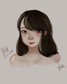 Face portrait #photoshop #digitalpaint #painting #girl #practice