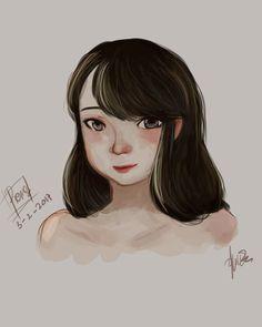 Face portrait #photoshop #digitalpaint #painting #girl #practice