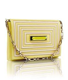 44503c6933a7 Crystal Clutch - chartreuse Luxury Handbags