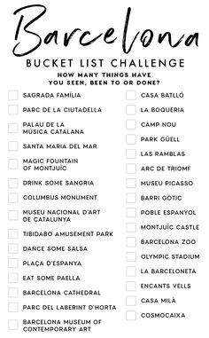 Travel Checklist, Travel List, Travel Goals, Places To Travel, Travel Destinations, Vacation Trips, Vacations, Barcelona Travel, Future Travel