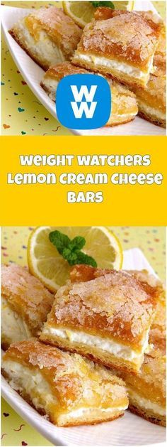 Lemonllon Cream Cheese Bars | weight watchers recipes | Page 2
