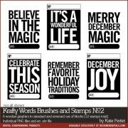 Krafty Words Brushes and Stamps No. 02