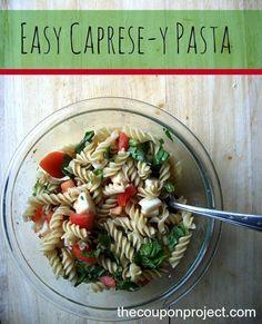 Easy Caprese-y Pasta and Simple Italian Soda Recipes