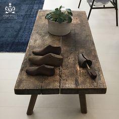 VT Wonen en Designbeurs 2016 | Old BASICS | slagerstafel salontafel van stoer oud hout met geleefde uitstraling | brocante - industrieel - vintage |