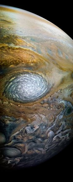 "A giant white storm on Jupiter, which NASA officially calls ""anticylonic white oval WS-4."" NASA/SwRI/MSSS/Kevin M. Gill (CC BY 2.0)"