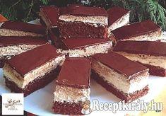 Kapuciner szelet, első kóstolásra a kedvencünk lett, nem lehet megunni! Cooking Recipes, Healthy Recipes, Cake Cookies, Nutella, Sweet Recipes, Tiramisu, Paleo, Dessert Recipes, Food And Drink