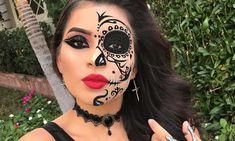 21 Día de Los Muertos Makeup Looks You Wont Believe Krimi Dinner: Piraten Halloween Makeup Sugar Skull, Cute Halloween Makeup, Halloween Eyes, Skull Makeup, Halloween Looks, Face Makeup, Day Of Dead Makeup, Costume Makeup, Simple Makeup