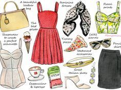After doing French and British style, I've had many requests to do an illustrated how-to on Italian style. I have to admit, I've only been in Italy once, and only for one day, so I apologize in advance to all the Italians who might think I've got it completely wrong. Anyway, this is my interpretation of the Italian (life)style. What would you like to see next on illustrated how-tos? Feel free to let me know and have a good week!