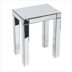 Reflections End Table in Silver Mirror - REF17-SLV - Lowest price online on all Reflections End Table in Silver Mirror - REF17-SLV