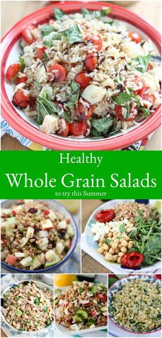 These healthy whole grain salad recipes are sure to be light, yet filling and absolutely delicious additions to your summer menu! via @aggieskitchen