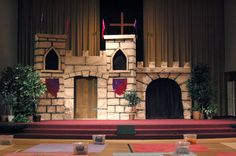 Detailed instructions on castle walls from foam panels. churcheventipedia.com - How to Make Castle Walls