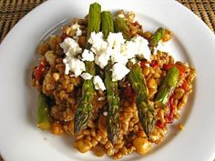 Roasted Eggplant, Red Pepper and Green Bean Pomegranate Salad | Recipe ...