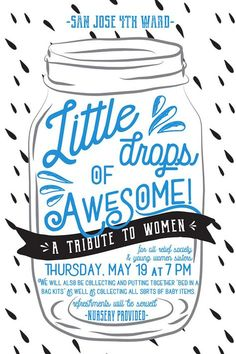 Little Drop of Awesome Relief Society Activity Poster