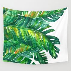 tropical green 2 Wall Tapestry