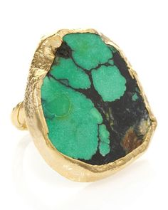 Chelsea Turquoise Adjustable Ring (CUSP Most Loved!) at CUSP.    Love it.  Do I even have to say why?  It's so beautiful and raw.  LOVE.