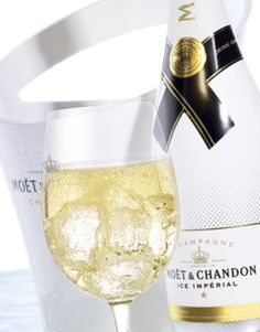 With lemon and mint, my new go to...Moët & Chandon Ice Imperial...Yum!