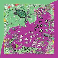 *JoJo Preechapakorn *Sea Beach scarf, new color, magenta/green *Reactive dye on handwoven thai silk #jojopreechapakorn #seabeachscarf