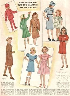 Some Indoor and Outdoor Smartness for Him and Her - 1934  McCall Magazine hasn't forgotten the kids.