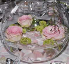 Deco floral on pinterest mariage vase and bouquets - Vase plat centre de table ...