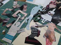8 hints for cutting stencils for gelatin printmaking - Linda Germain Printmaking