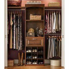 Lowes- allen + roth 8-ft Wood Closet Kit - hidden sliding doors