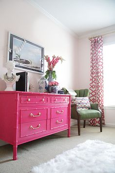 One Room Challenge: Guest Room // REVEAL | Pink chests, Vintage ...