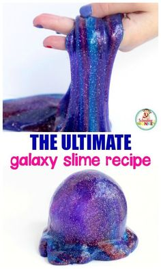 This super easy slime recipe is the ultimate guide in how to make galaxy slime. Kids will love this DIY version of slime they can make at home!