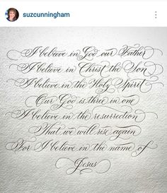 Another beauty by the talented Suzanne Cunningham Calligraphy Fonts Alphabet, Flourish Calligraphy, Copperplate Calligraphy, Calligraphy Handwriting, Penmanship, Letras Tattoo, Hand Lettering Alphabet, Creative Lettering, Lettering Tutorial