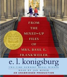 from the mixed up files of Mrs. Basil E. Frankweiler by e. l. konigsburg. Newberry Award winner. Realistic fiction. Good book to use when teaching about art and history. The kids in the book run away to a museum.