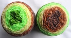 Sock Yarn - Hand Dyed Gradient Sock Yarn, Hand Dyed Yarn in green, brown, yellow - fingering weight, superwash yarn, 460 yards